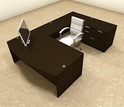 4pc U Shaped Modern Executive Office Desk Ot-sul-u8