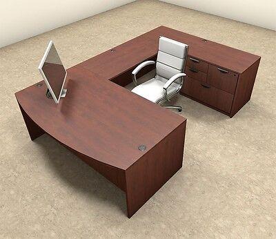 4pc U Shaped Modern Executive Office Desk Ot-sul-u6