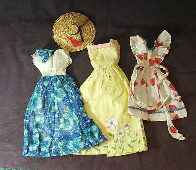 Barbie Clothes Accessories, Lot of 4 1970's, 3 Dresses and Hat