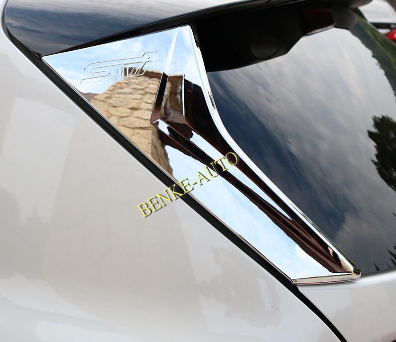 For 2018 Subaru XV Crosstrek Carbon Fiber Rear Window Strip Protection Trim 2X Car & Truck Exterior Parts Car & Truck Exterior Mouldings & Trim