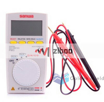 Sanwa Pm3 Digital Multimeter With Multi-function Pocket Type