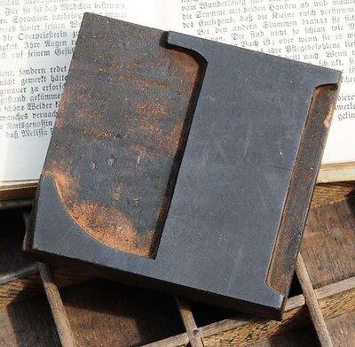 Letter L Wood Type Character Rare Decorative Letterpress Printing Block Font