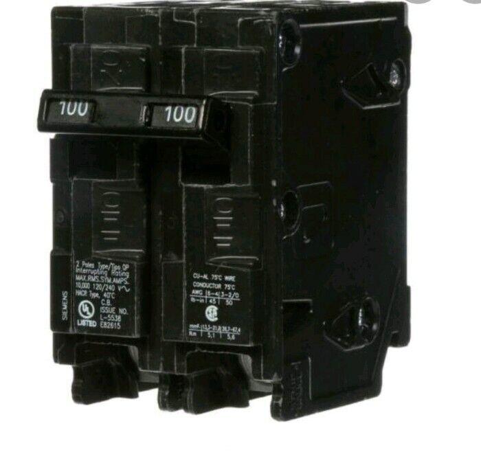 Siemens 2 Pole 100A Circuit Breakers