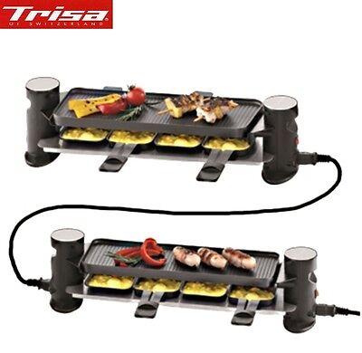 8 er Raclettegrill 4 plus 4 Connect Trisa Swiss  Erweiterbar bis 16 Personen