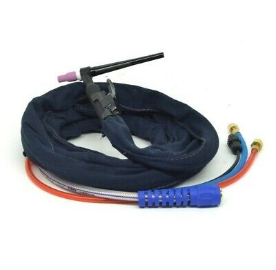 Wp-20-25r 10 200amp Water-cooled Tig Welding Torch Complete Flexible Head Body