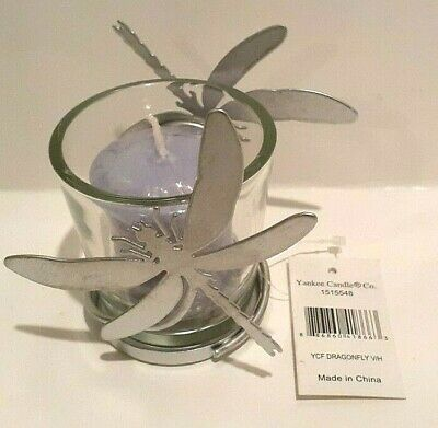 Yankee Candle Metal & Glass Dragonfly Votive Candle & Holder