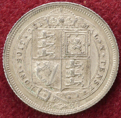 GB Sixpence 1887 Garter Jubilee Head (C1806)