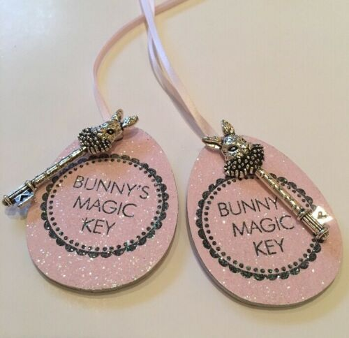 Easter Bunny's Magic Key Easter Decoration Tag Happy Easte