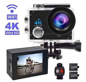 4K Action Camera with extra Battery and mounting accessories Kit