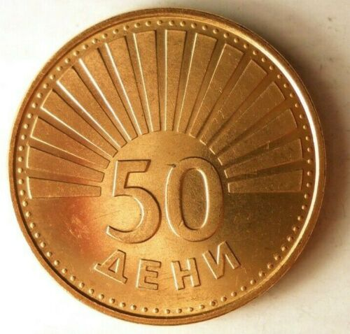 1993 MACEDONIA 50 DENI - AU - Hard to Find Coin - FREE SHIP - BIN MMM