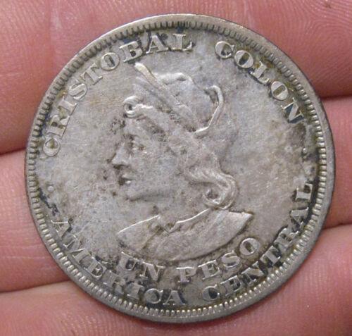 El Salvador - 1895 Large Silver Peso - Nice