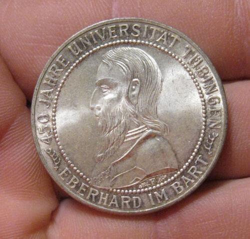 Germany - 1927-F Silver 5 Mark (Tubingen) - Very Scarce & Nice!