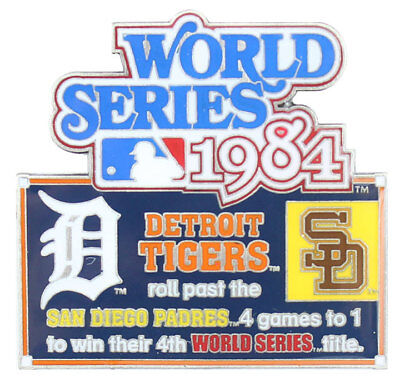 1984 World Series Commemorative Pin - Tigers vs. Padres - Limited 1,000