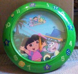 Dora the Explorer Clock