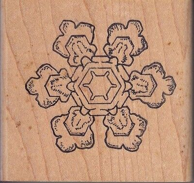 """snowflake 661/264 stamps in motion Wood Mounted Rubber Stamp 2 1/2 x 2 1/2"""""""