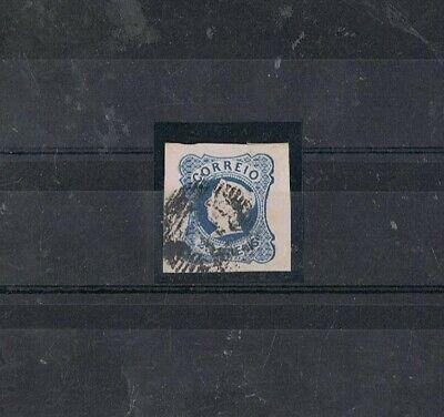 PORTUGAL - 1853 25 rs azul, D. MARIA II, TIPO I. MARGENS DE LUXO