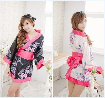Sexy Spielzeug Damen Blume Japanische Kimono Yukata Nachtwäsche - Sexy Japanische Kleid