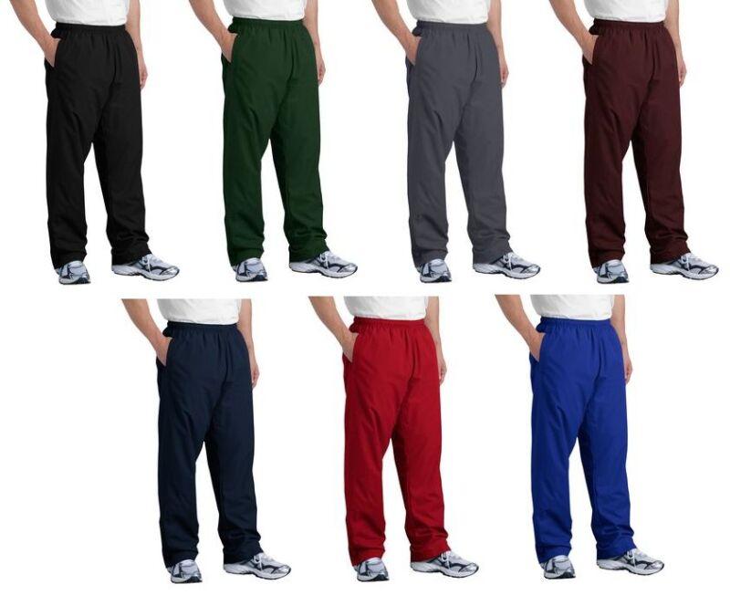 Sport Tek Wind Rain Golf Track Pants Athletic Dri-Fit Sizes XS-4XL NEW PST74