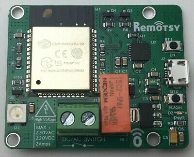 Simple Developer Relay Board Using The Esp32 Wifi And Bluetooth