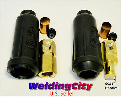 Welding Cable Twist-lock Connector Pair Dinse 6-4 16-25mm Us Seller Fast