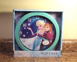 Disney Frozen Wall Clock Metal Hands Glass Lens Anna Elsa NEW