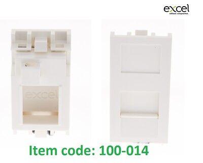 Plus Keystone Jack (EXCEL 100-014 Plus Shuttered Mod For Keystone Jack White Flat Euromod)