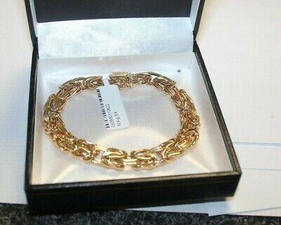 9 CARAT GOLD BRACELET ITALIAN DESIGN 10.4 GRAMS