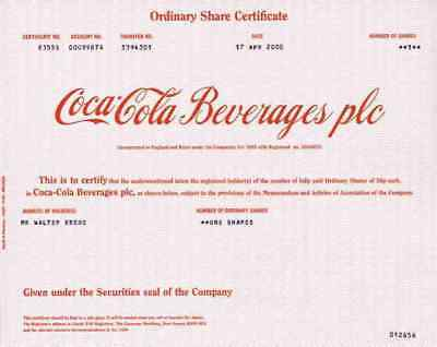 COCA COLA Beverages Plc April 2000 Wakefield Yorks GB Atlanta Delaware USA DEKO