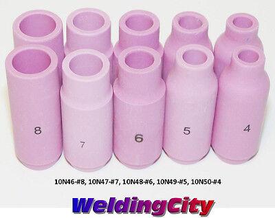 Weldingcity 10-pk Assorted Ceramic Cup 10n46-10n50 Tig Welding Torch 171826