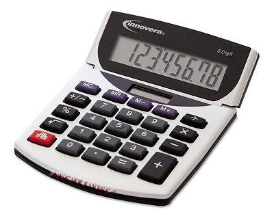 Innovera 15925 Portable Minidesk Calculator Battery Solar Math Desk - 2 Pack