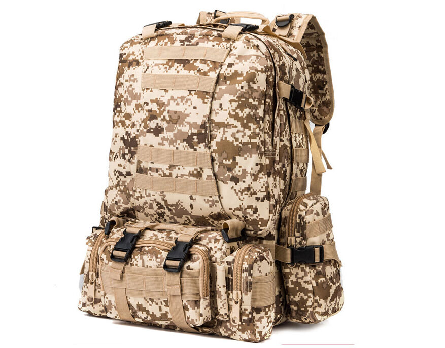 8L/10L/30L/55L/80L Outdoor Military Tactical Camping Hiking Trekking Backpack  55L Digital Desert Camo