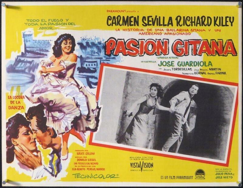 L367      SPANISH AFFAIR Mexican movie lobby card, Carmen Sevilla, Richard Kiley