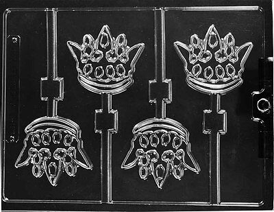 PRINCE CROWN LOLLIPOP CHOCOLATE CANDY MOLD MOLDS DIY BIRTHDAY PARTY FAVORS  Chocolate Lollipops Birthday Favors