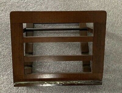 Vintage Wood Desk Top Folding Art or Cookery Book Stand