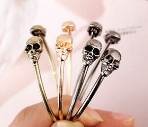 vintage-Fashion-4-colors-optional-Comming-Jewelry-Metal-Skull-Bangle-Bracelet