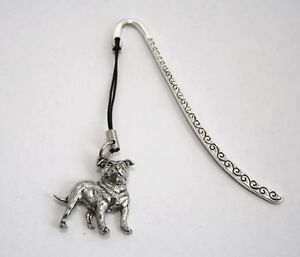 Staffordshire-Bull-Terrier-Dog-Bookmark-English-Pewter-Gift-Boxed-ts-staffie