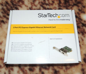 Brand new 2 Port PCI express gigabite ethernet network card