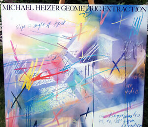 Michael HEIZERGeometric Extraction 1983 Open Edition SIGNED London Ontario image 3