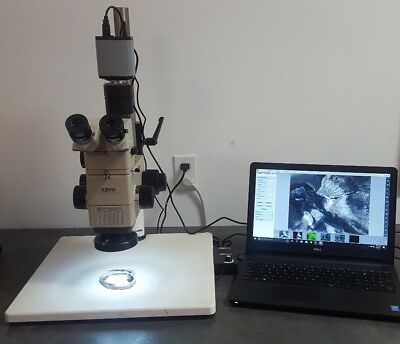 Olympus Microscope Szh10 With Camera