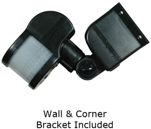 2 X HISPEC 270* PIR Motion Sensor Unit Wall & Corner Bracket Light Lamp Switch