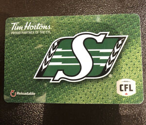 Trade Tim Hortons Saskatchewan Roughriders CFL Gift Cards