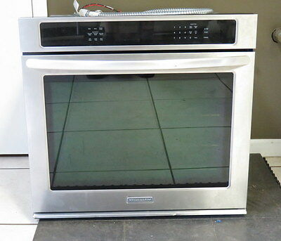 "KitchenAid Single 30"" Built In Wall Convection Oven Stainless KEBS109B"