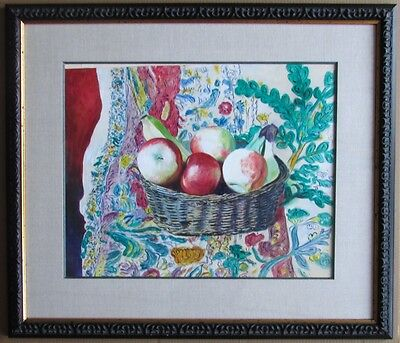 - Original Contemporary Table-Top Still Life Watercolor Painting Signed Framed