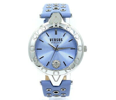 Ladies Versus VERSACE Eyelet Lavender Leather Band Quartz Watch