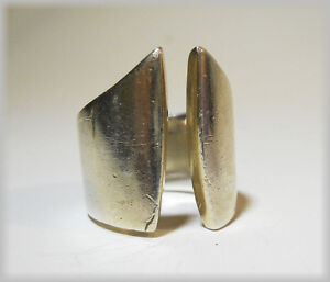 Sterling Silver Mid Modern large Ring - ladies