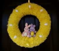Yellow Easter bunny wreath. ON SALE