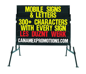 """. Mobile signs / Portable signs , Changeable letter Signs"""