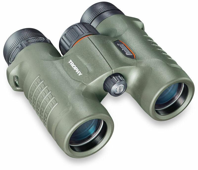 Bushnell Trophy Binocular. 8x32mm Roof Prism, Waterproof, Green. 393