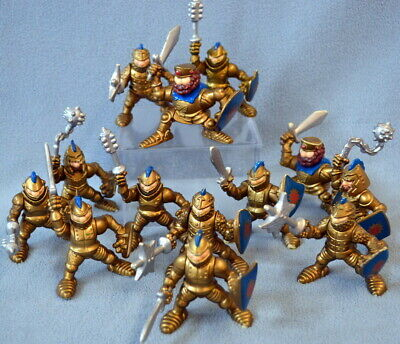 Vintage 1994 Lot of 13 Fisher Price Great Adventures Gold Jointed Army Men