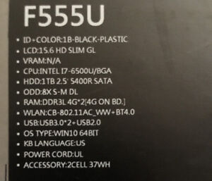 PERFECT CONDITION - Barely used ASUS F555U - $800 OBO